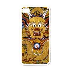 Chinese Dragon Pattern Apple Iphone 4 Case (white)