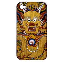 Chinese Dragon Pattern Apple Iphone 4/4s Hardshell Case (pc+silicone)