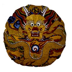 Chinese Dragon Pattern Large 18  Premium Round Cushions
