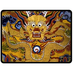 Chinese Dragon Pattern Double Sided Fleece Blanket (large)