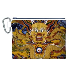 Chinese Dragon Pattern Canvas Cosmetic Bag (l)