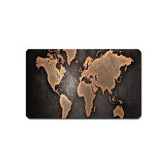 Grunge Map Of Earth Magnet (name Card)