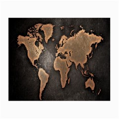 Grunge Map Of Earth Small Glasses Cloth (2 Side)