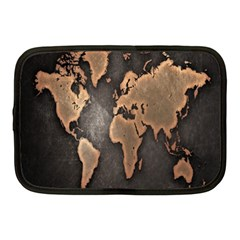Grunge Map Of Earth Netbook Case (medium)