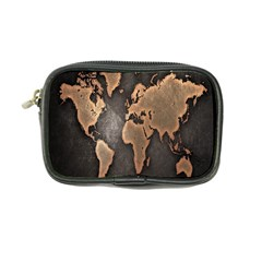 Grunge Map Of Earth Coin Purse