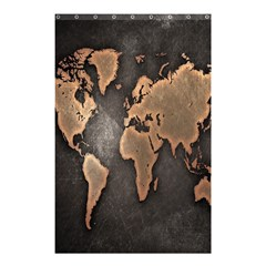 Grunge Map Of Earth Shower Curtain 48  X 72  (small)