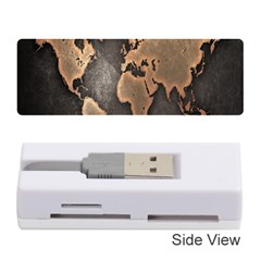 Grunge Map Of Earth Memory Card Reader (stick)