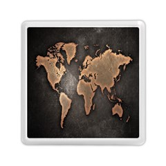 Grunge Map Of Earth Memory Card Reader (square)