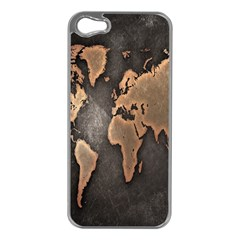Grunge Map Of Earth Apple Iphone 5 Case (silver)