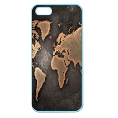 Grunge Map Of Earth Apple Seamless Iphone 5 Case (color)