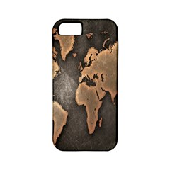 Grunge Map Of Earth Apple Iphone 5 Classic Hardshell Case (pc+silicone)