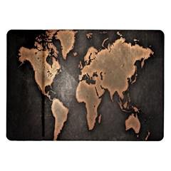 Grunge Map Of Earth Samsung Galaxy Tab 10 1  P7500 Flip Case