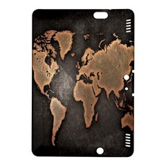 Grunge Map Of Earth Kindle Fire Hdx 8 9  Hardshell Case