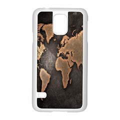 Grunge Map Of Earth Samsung Galaxy S5 Case (white)