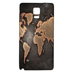 Grunge Map Of Earth Galaxy Note 4 Back Case