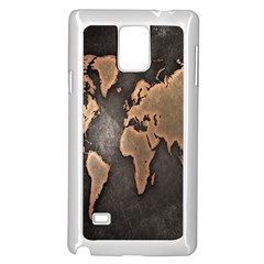 Grunge Map Of Earth Samsung Galaxy Note 4 Case (white)