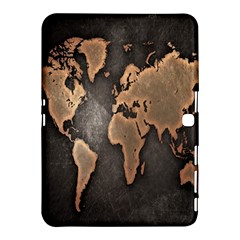 Grunge Map Of Earth Samsung Galaxy Tab 4 (10 1 ) Hardshell Case