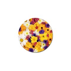 Colorful Flowers Pattern Golf Ball Marker (4 Pack)
