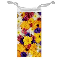 Colorful Flowers Pattern Jewelry Bag
