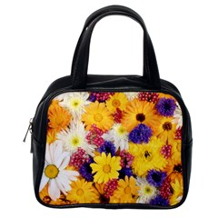 Colorful Flowers Pattern Classic Handbags (one Side)