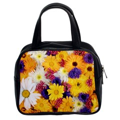 Colorful Flowers Pattern Classic Handbags (2 Sides)