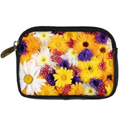 Colorful Flowers Pattern Digital Camera Cases