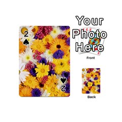 Colorful Flowers Pattern Playing Cards 54 (mini)