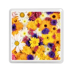 Colorful Flowers Pattern Memory Card Reader (square)