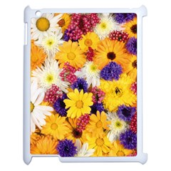 Colorful Flowers Pattern Apple Ipad 2 Case (white)