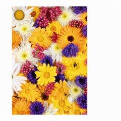 Colorful Flowers Pattern Small Garden Flag (two Sides)