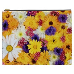 Colorful Flowers Pattern Cosmetic Bag (xxxl)