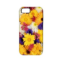 Colorful Flowers Pattern Apple Iphone 5 Classic Hardshell Case (pc+silicone)