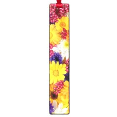 Colorful Flowers Pattern Large Book Marks