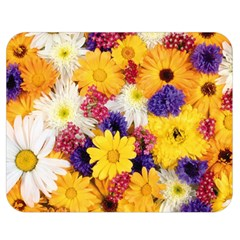 Colorful Flowers Pattern Double Sided Flano Blanket (medium)