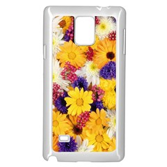 Colorful Flowers Pattern Samsung Galaxy Note 4 Case (white)