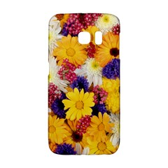 Colorful Flowers Pattern Galaxy S6 Edge
