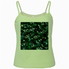 Old Spiderwebs On An Abstract Glass Green Spaghetti Tank