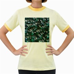 Old Spiderwebs On An Abstract Glass Women s Fitted Ringer T Shirts