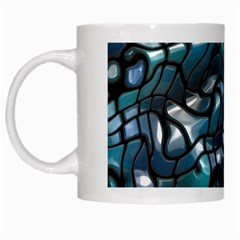 Old Spiderwebs On An Abstract Glass White Mugs