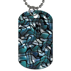 Old Spiderwebs On An Abstract Glass Dog Tag (one Side)
