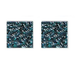 Old Spiderwebs On An Abstract Glass Cufflinks (square)