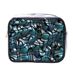 Old Spiderwebs On An Abstract Glass Mini Toiletries Bags