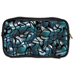 Old Spiderwebs On An Abstract Glass Toiletries Bags 2 Side