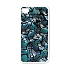 Old Spiderwebs On An Abstract Glass Apple Iphone 4 Case (white)