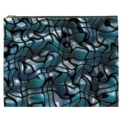 Old Spiderwebs On An Abstract Glass Cosmetic Bag (xxxl)