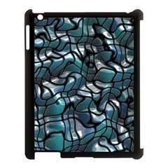 Old Spiderwebs On An Abstract Glass Apple Ipad 3/4 Case (black)