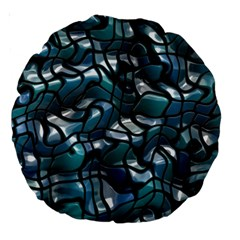 Old Spiderwebs On An Abstract Glass Large 18  Premium Round Cushions