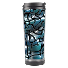 Old Spiderwebs On An Abstract Glass Travel Tumbler