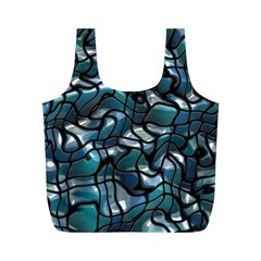 Old Spiderwebs On An Abstract Glass Full Print Recycle Bags (m)