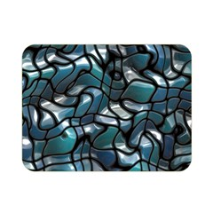 Old Spiderwebs On An Abstract Glass Double Sided Flano Blanket (mini)